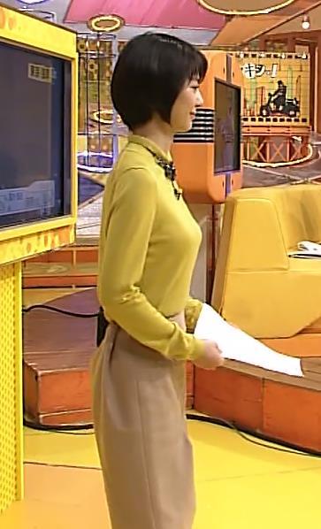夏目三久 体のラインがわかる衣装キャプ画像(エロ・アイコラ画像)