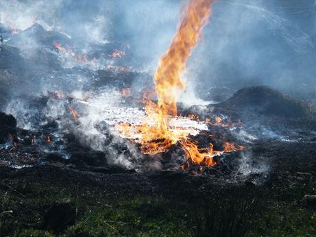 2008英国バンガーの農園の火災旋風