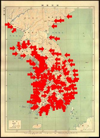 倭寇の半島地図