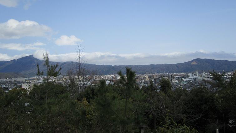 船岡山から見た東山