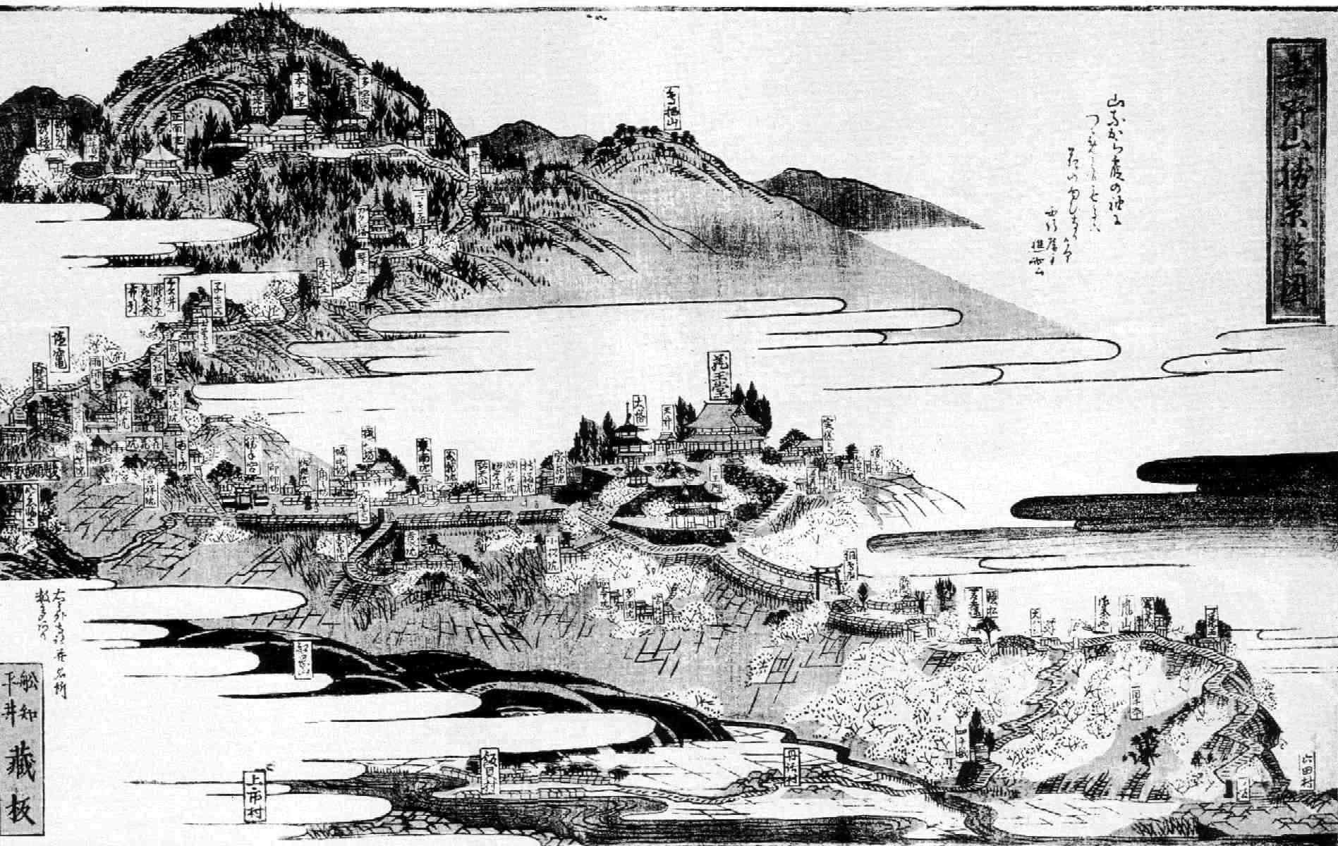 吉野山勝景絵図