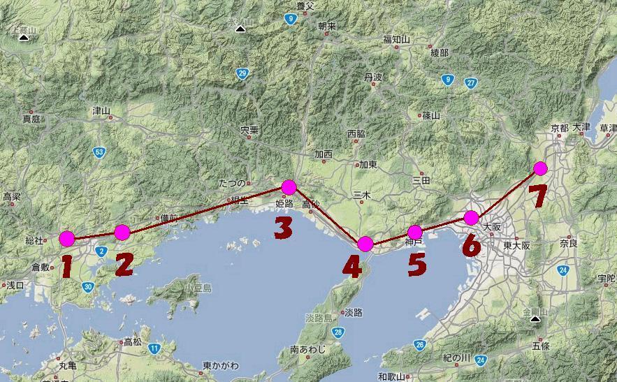 秀吉大返し地図2