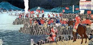 備中高松城水攻め