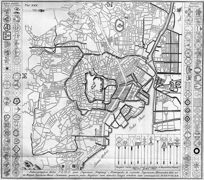 ケンペル江戸地図