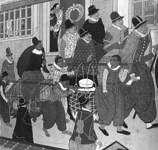 ポルトガル国立小美術館にある桃山時代の「南蛮屏風」