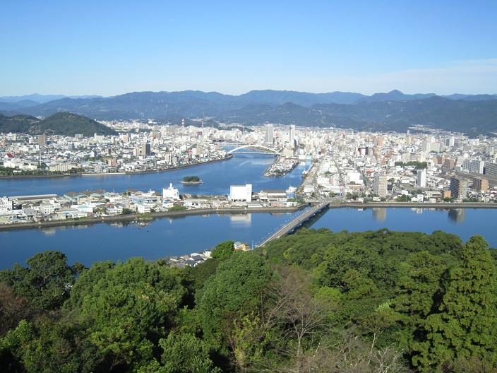 五台山公園からの眺望