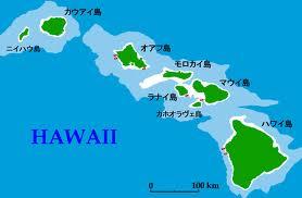 ハワイ諸島地図