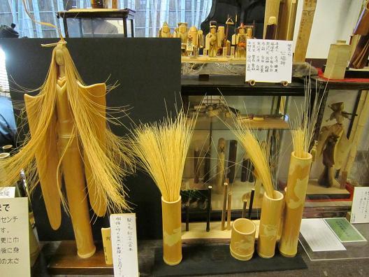 越前竹人形制作途上