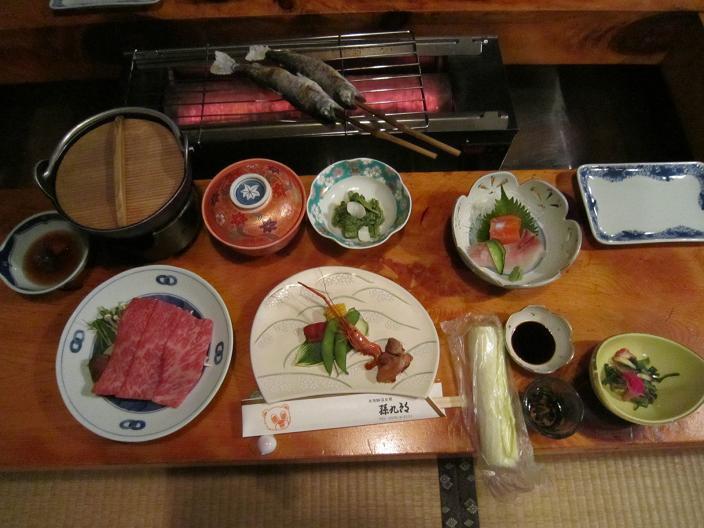 孫九朗の夕食
