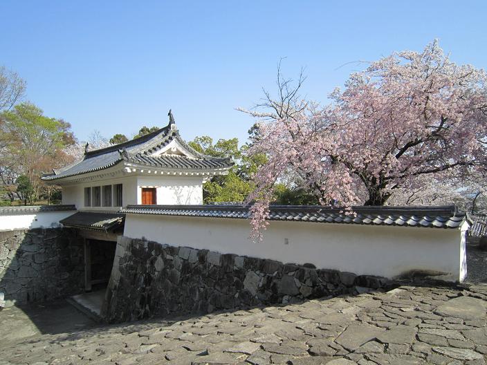 竜野城埋門と桜
