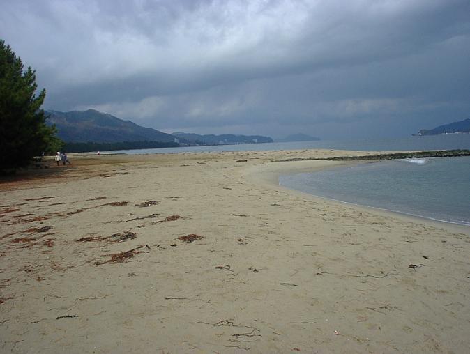 天橋立砂浜