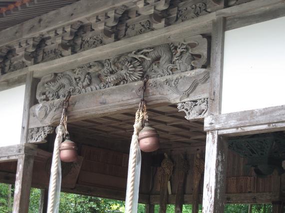 浦嶋社殿の彫刻