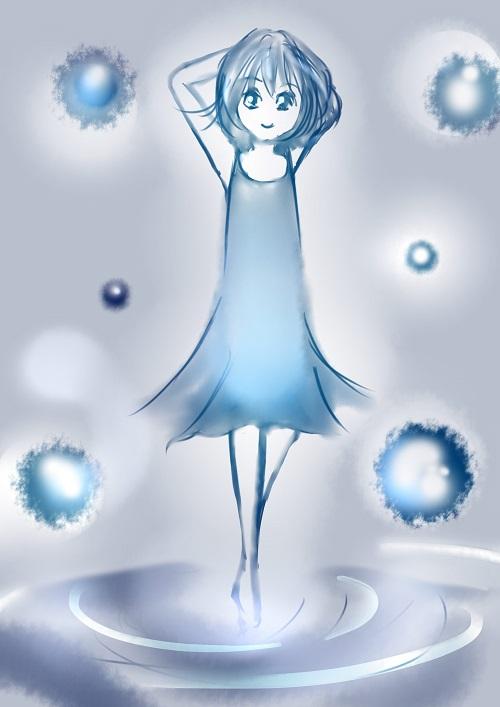 「水の女の子」